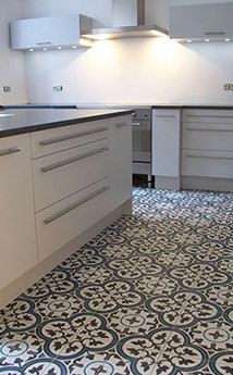 ENCAUSTIC TILES Kitchen at ASD Surfaces